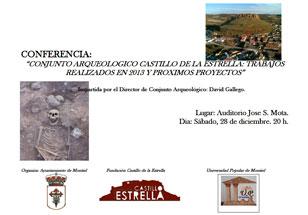 CONFERENCIA 28/12/2013. Conjunto Arqueológico Castillo de la Estrella: trabajos realizados en 2013 y próximos proyectos