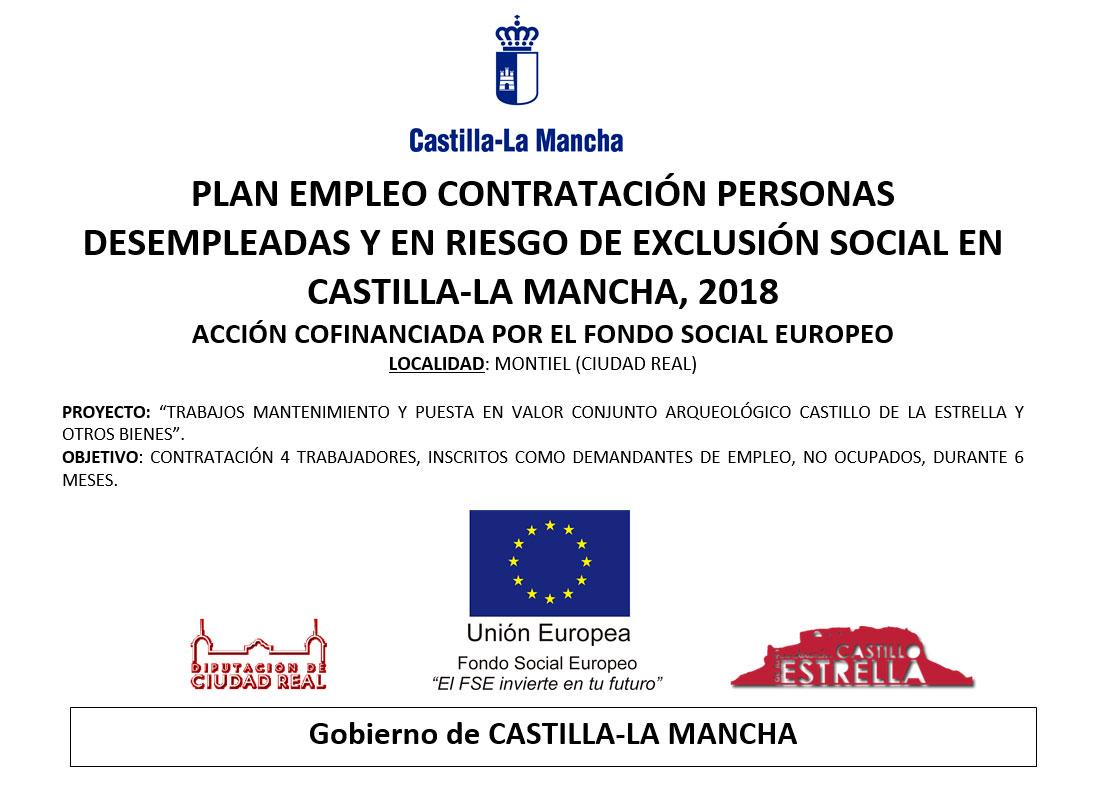 PLAN EMPLEO CONTRATACIÓN PERSONAS DESEMPLEADAS Y EN RIESGO DE EXCLUSIÓN SOCIAL EN  CASTILLA-LA MANCHA, 2018